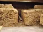 Singidunum - Remains of Roman legionary fortification with water supply system in Belgrade City Library